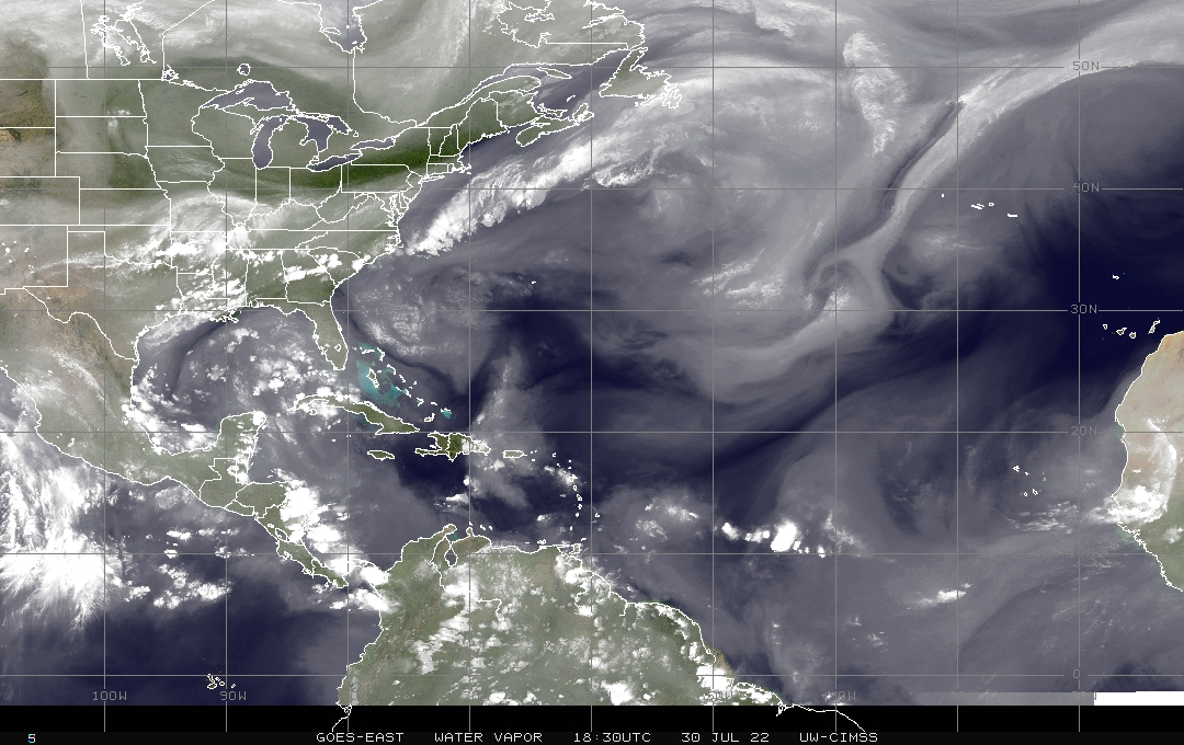 North Atlantic Water Vapor Satellite