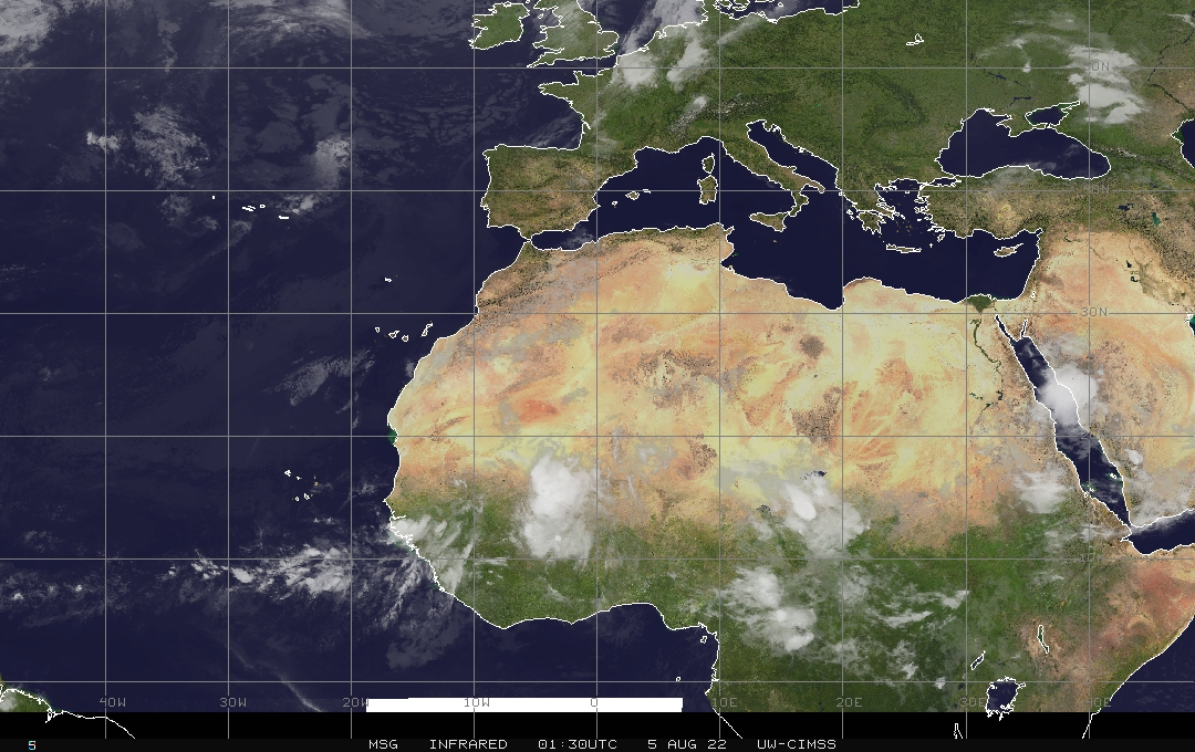 Infrared Italy and Nord Africa