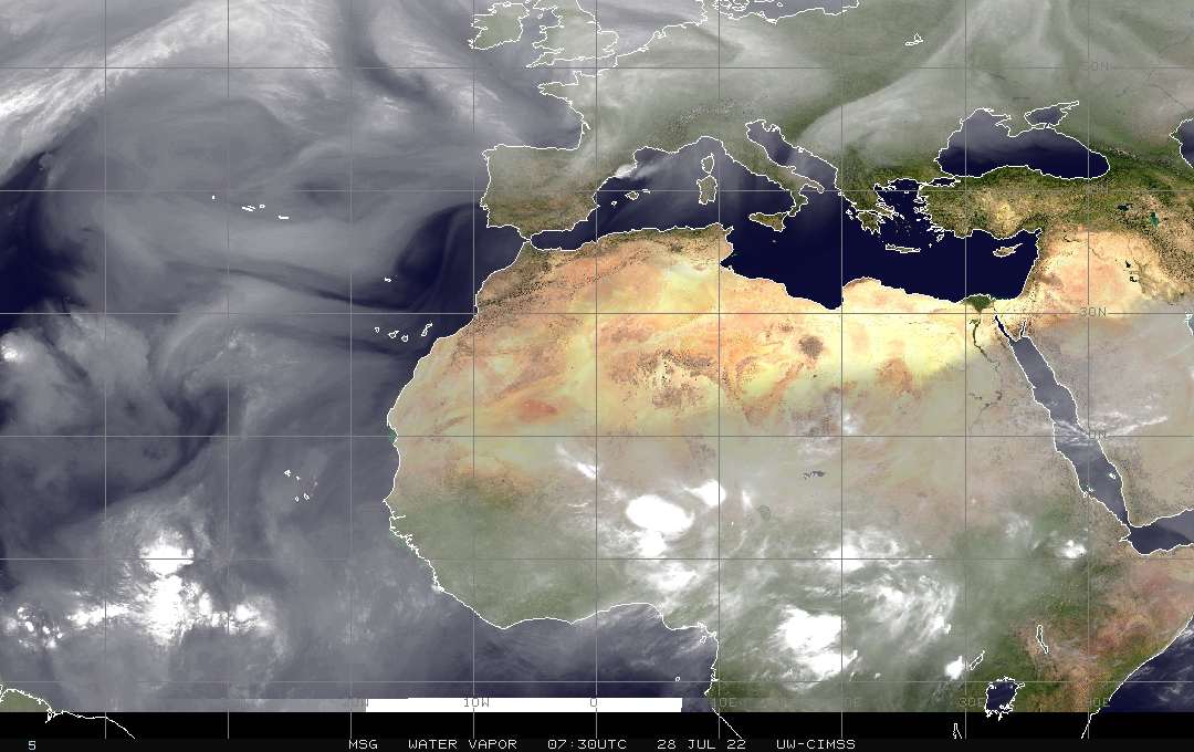 Eastern Atlantic Water Vapor Satellite