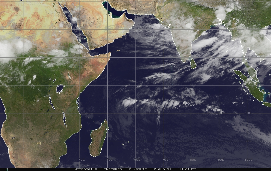 West Pacific Ocean real-time satellite image