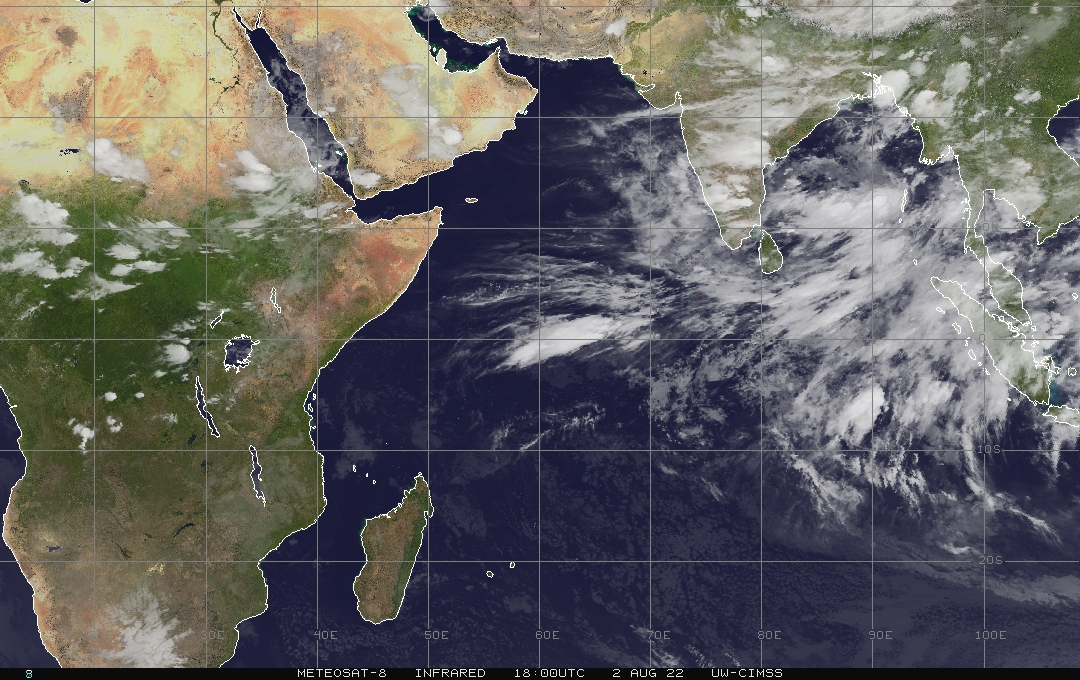 Meteosat 5 - Indian Ocean - infrared