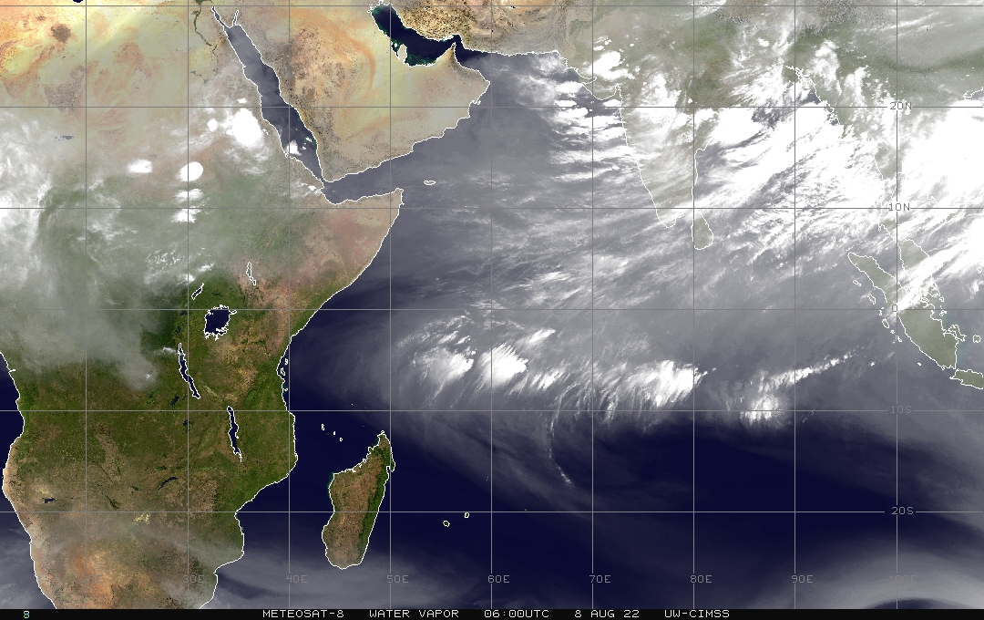Meteosat 5 - Indian Ocean - water vapour