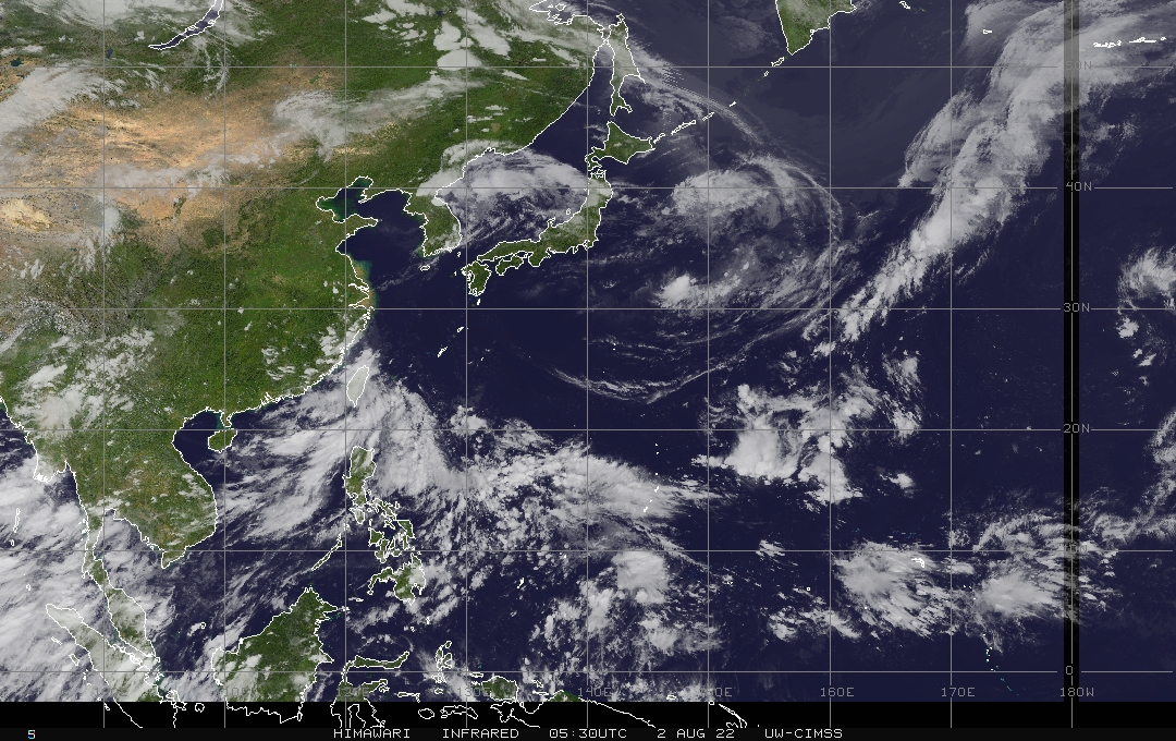 CIMSS WPAC Colored IR Satellite Image